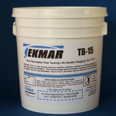 TEKMAR TB-15 Water Based Embroidery Applique Adhesive